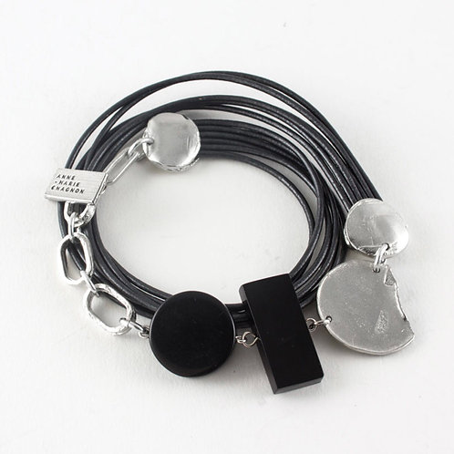 Bracelet Gina gris Anne-Marie Chagnon