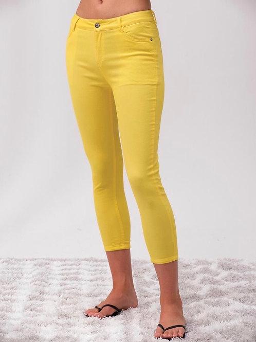 Pantalon 3/4 jaune Alison Sheri
