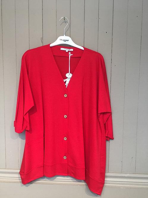 Veste manche 3/4  rouge FA Concept