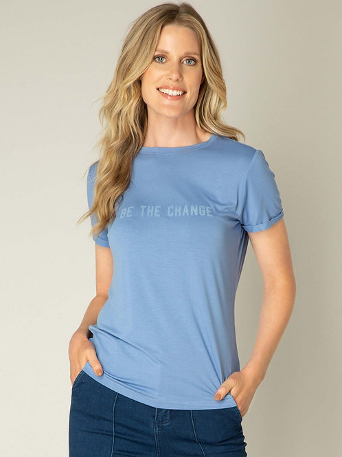 T-Shirt Yalba bleue Yest