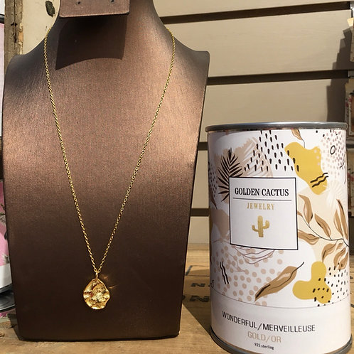 Boîte cadeau collier Merveilleuse  or Golden Cactus