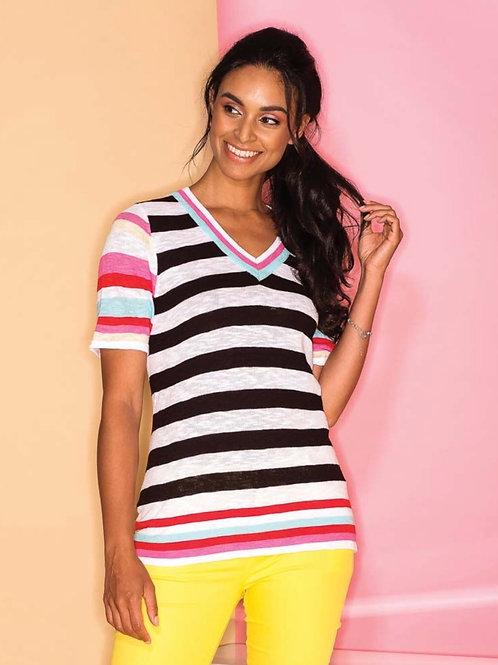 T-Shirt rayures couleurs Elena Wang
