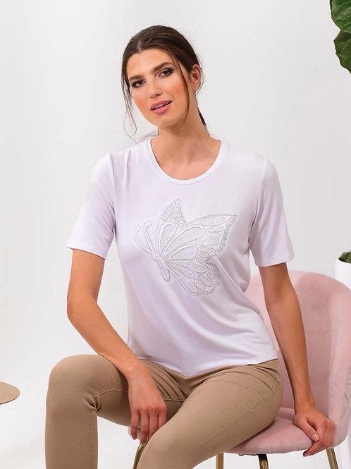 T-Shirt papillon blanc Alison Sheri