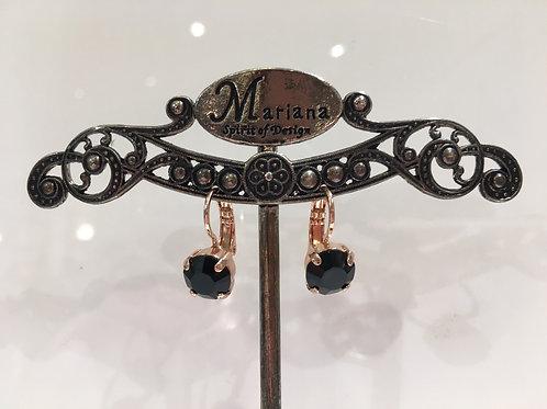 Boucles d'oreilles cristal noir Mariana