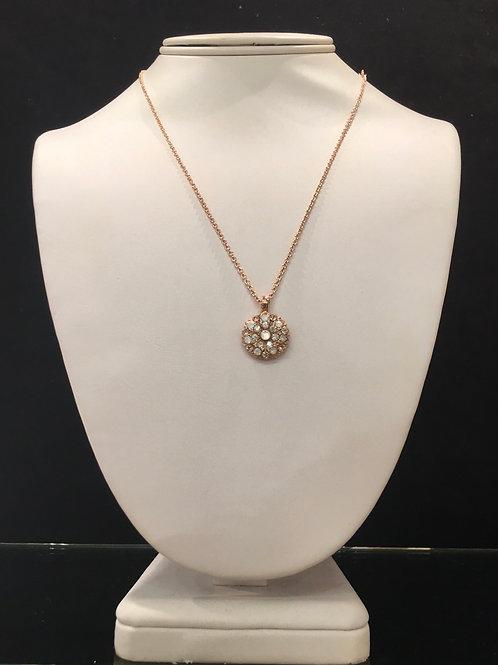 1- Collier Ange protecteur cristaux clair-opale-nacre Mariana