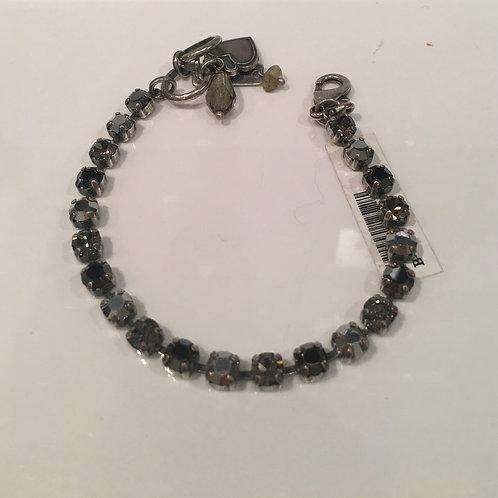 Bracelet cristaux gris-noir Mariana