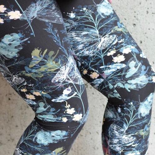 Legging papillon bleue