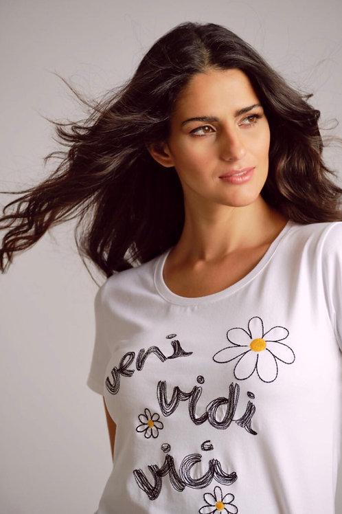 T-Shirt blanc veni, vidi, vici Scorzzo