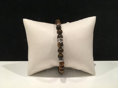 Bracelet Oeil de tigre barillet Karat