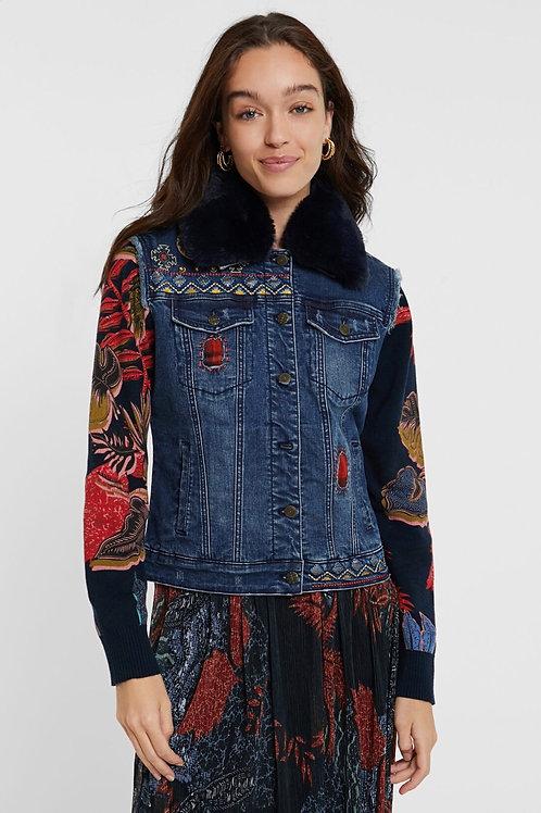 Veste en jeans et tricot Desigual