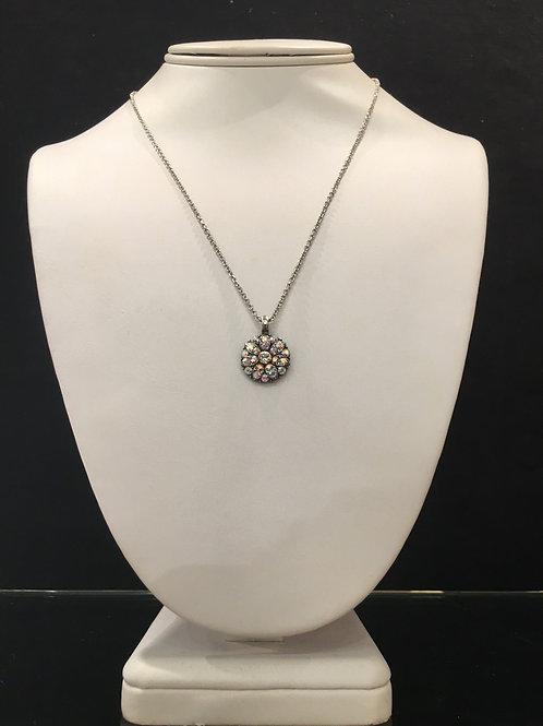 9-Collier Ange protecteur cristaux clair multi-reflets Mariana