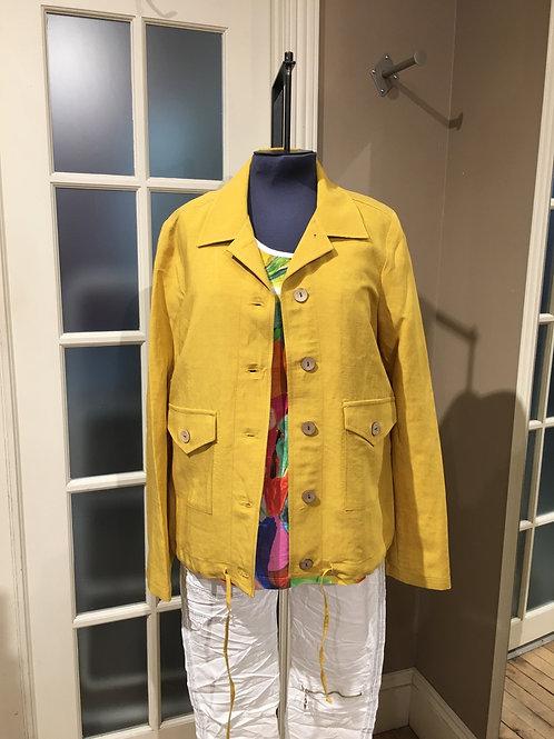 Veste à bouton style lin choux de couleurs Émilie