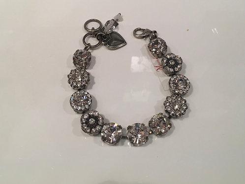 Bracelet cristaux fleurs claires Mariana