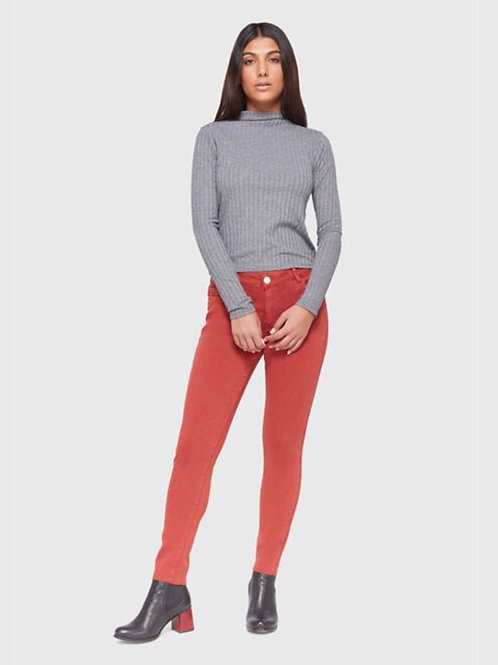 Jeans skinny purée citrouille Lola