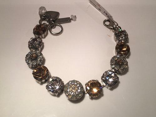 Bracelet cristaux fleurs claires-champagne Mariana