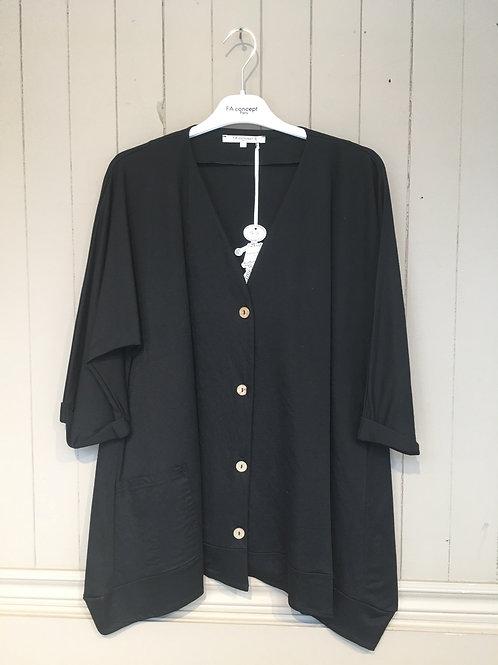 Veste manche 3/4 noir FA Concept