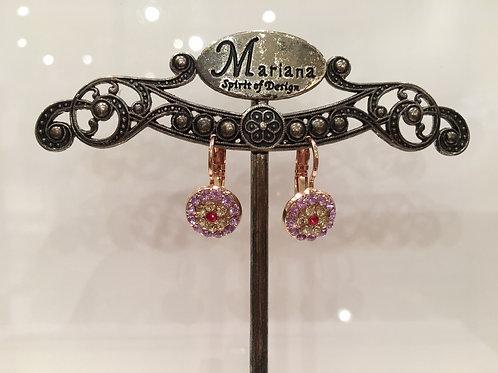 Boucles d'oreilles fleurs multicolores Mariana