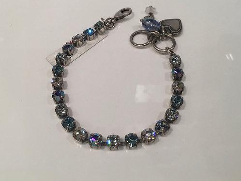 Bracelet cristaux tons de bleus  Mariana
