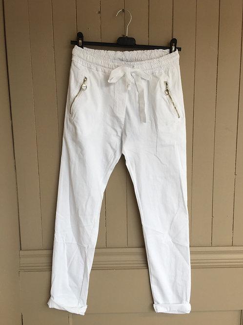 Pantalon italien blanc Elissia