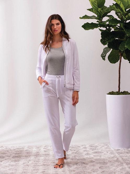 Veste blanche bandes argentées Alison Sheri