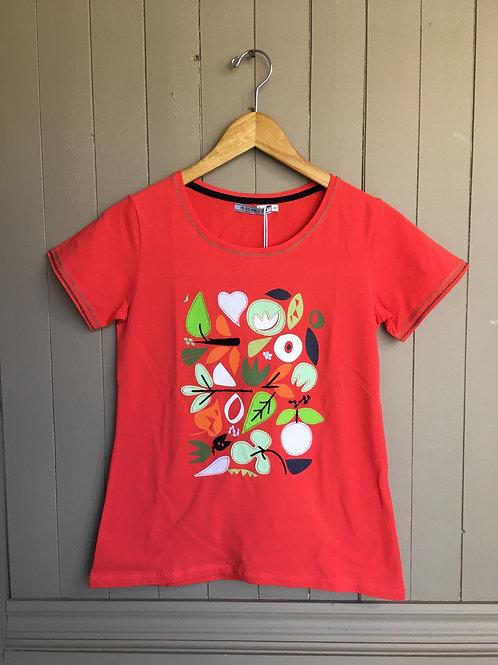 T-Shirt feuilles Scorzzo
