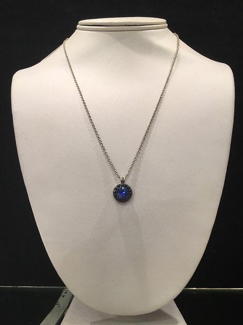 Collier cristaux bleu cobalt Mariana