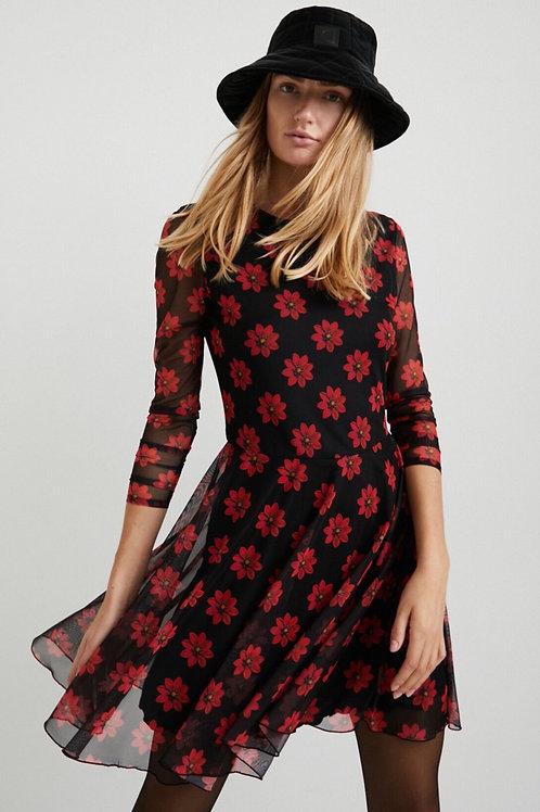 Robe fleurs rouges Desigual