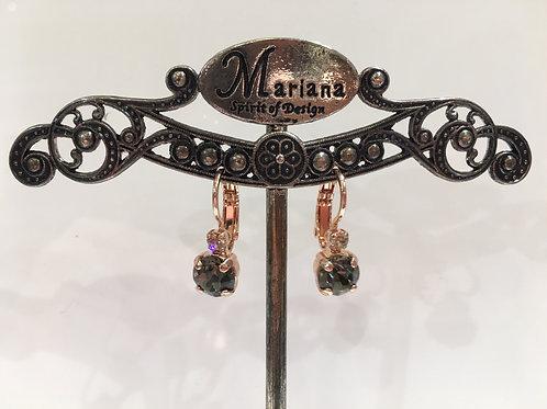 Boucles d'oreilles cristaux champagne-fumée Mariana