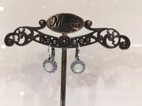 Boucles d'oreilles multi cristaux bleu-opale Mariana