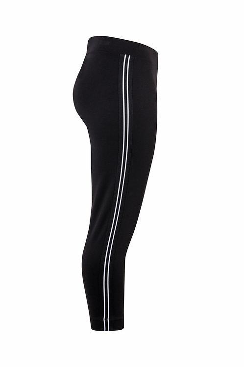 Pantalon noir bandes blanches Mat. Fashion