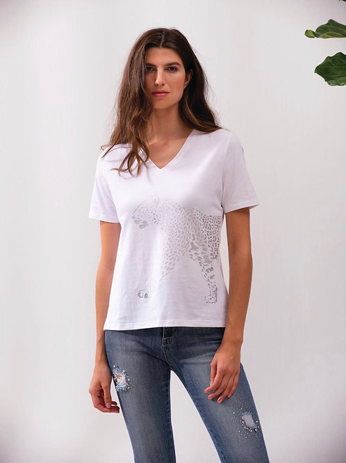 T-shirt guépard Alison Sheri