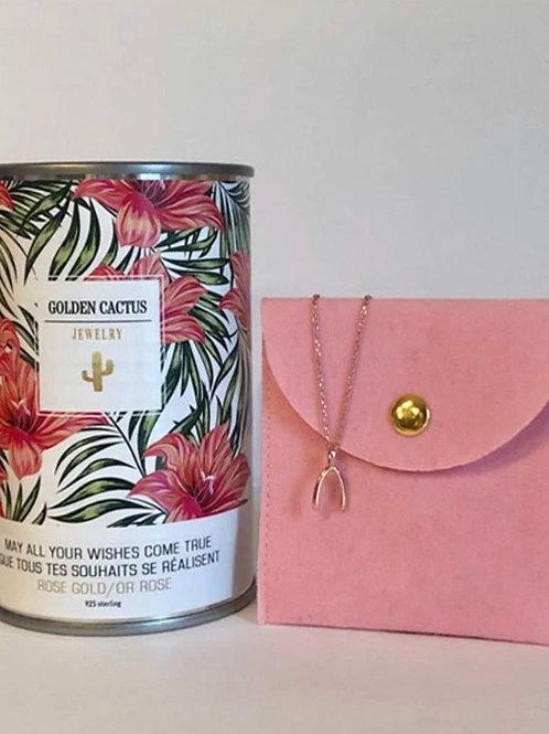 Boîte cadeau collier Chance or rose Golden Cactus