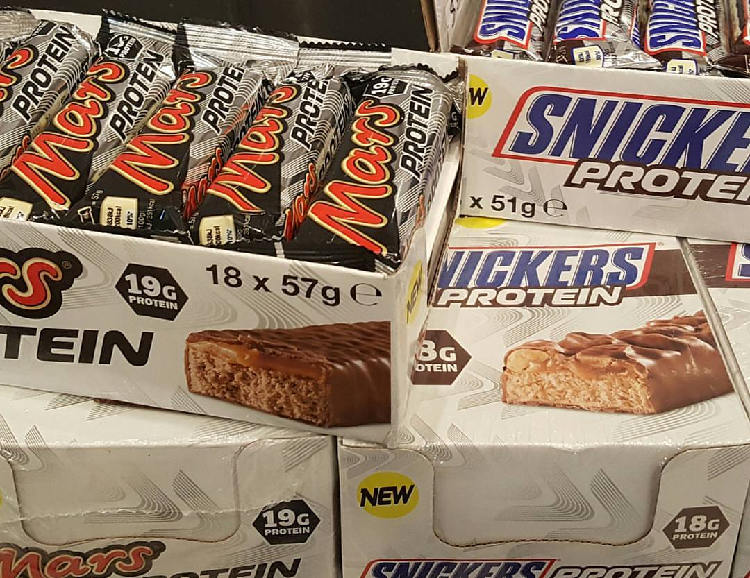 Mars and Snickers Protein Bars