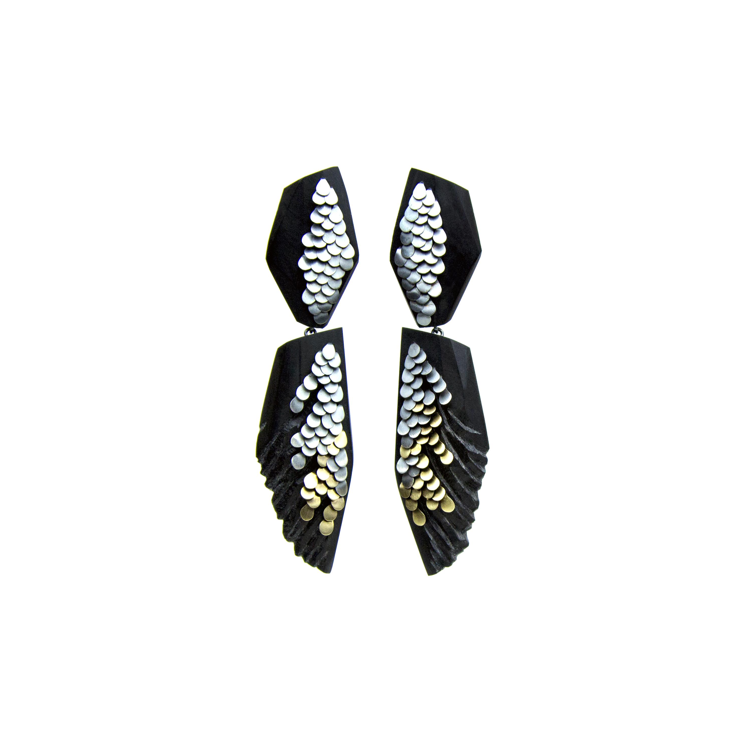 Long double drop murmur earrings