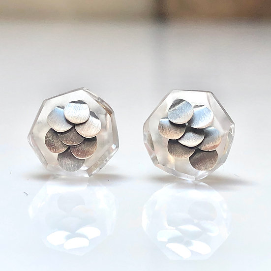Mini Murmur Studs Silver