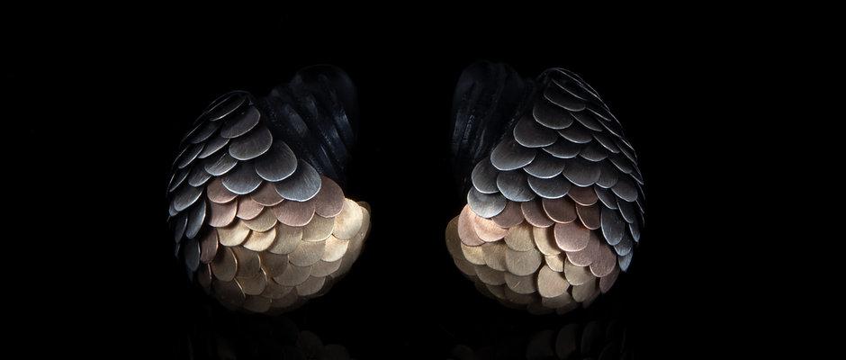 Carved Amaru Stud Earrings
