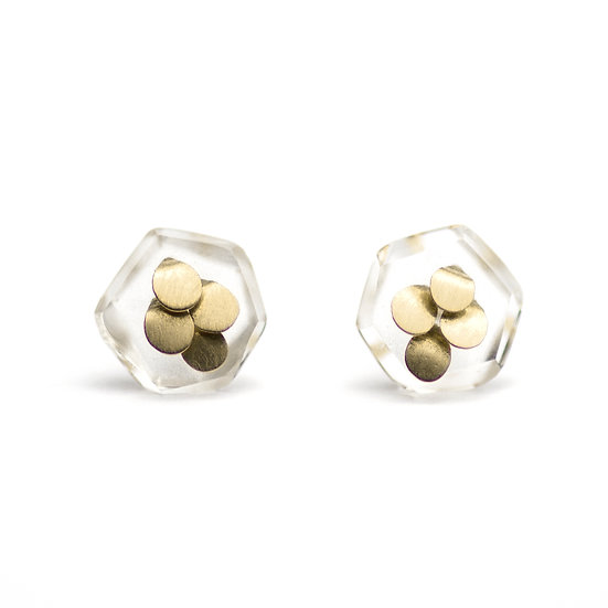 Baby Murmur Studs Yellow Gold