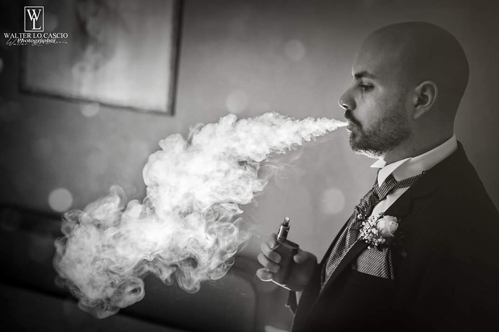 Sposo nel fumo