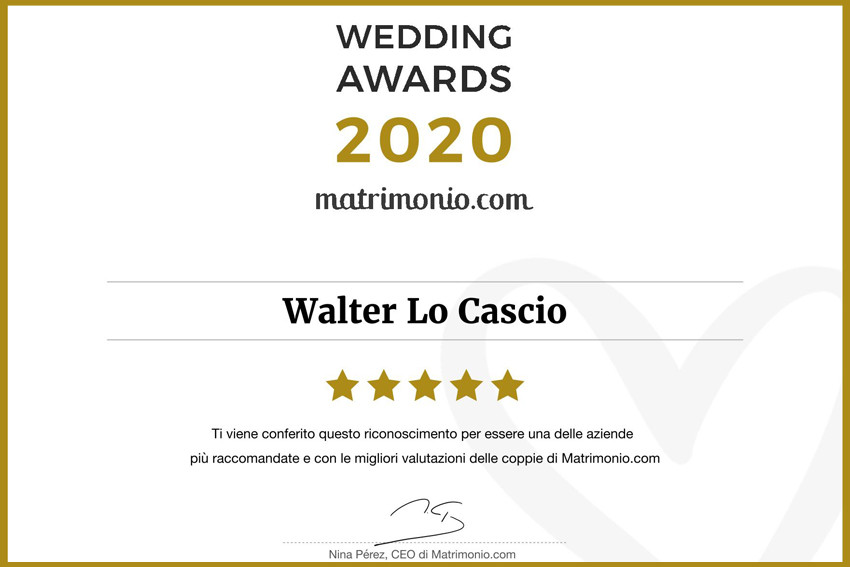 Wedding Award 2020 Walter Lo Cascio