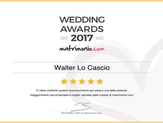 WEDDINGS AWARDS 2017  by matrimonio.com