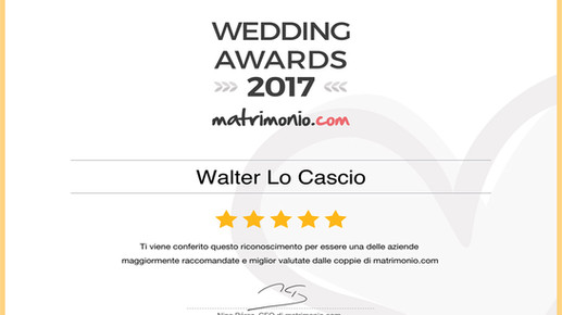 WEDDINGS AWARDS 2017  by matrimonio.com