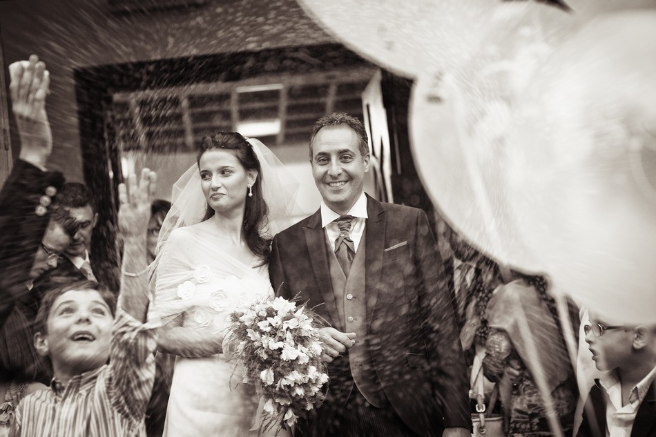 Foto del Lancio del riso agli sposi