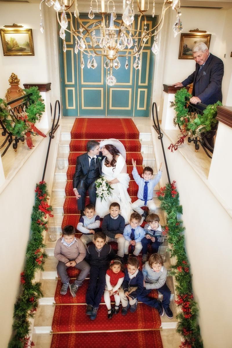 Gli sposi e i bambini