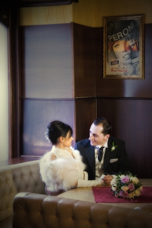 Foto matrimonio ex bar Romano