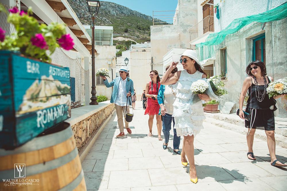 Sposi a Levanzo, Servizio Fotografico