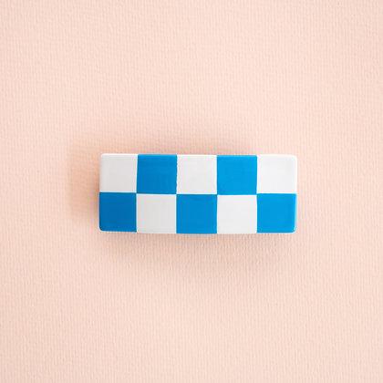 Large Checkered Barette