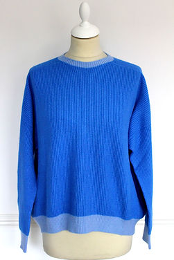 two tones cobalt blu jumper, soft ans warm