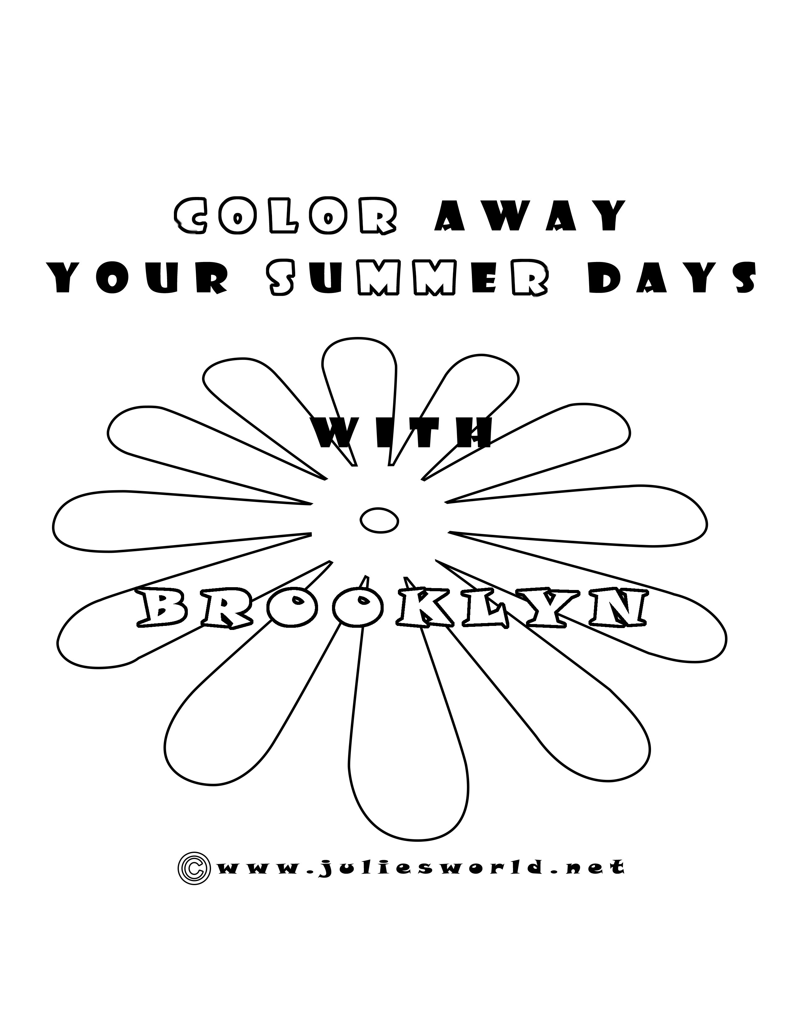 Color your summer with Brooklyn