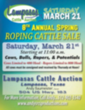 Andy Baumeister 8th Annual Roping Cattle