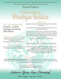 Taller Teórico-Práctico de Sanación Psicológica Holistica